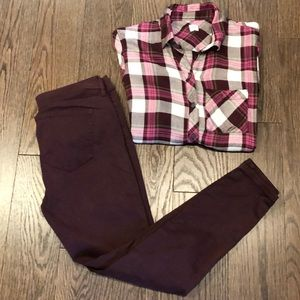 Great Fall Outfit with GAP Top & Ann Taylor Jeans